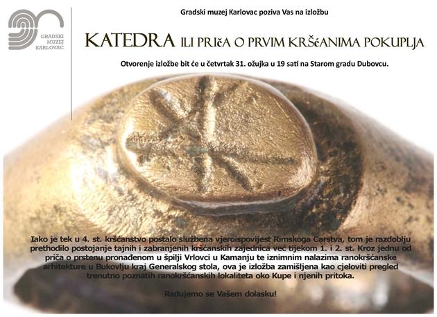 GMK – Otvorenje izložbe 'KATEDRA ili priča o prvim kršćanima Pokuplja' [PRESS]