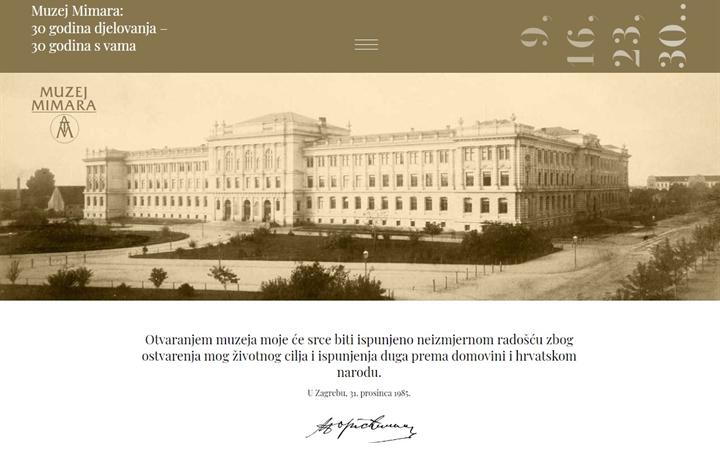 """Virtualna izložba """"Muzej Mimara 30 godina djelovanja - 30 godina s vama"""""""